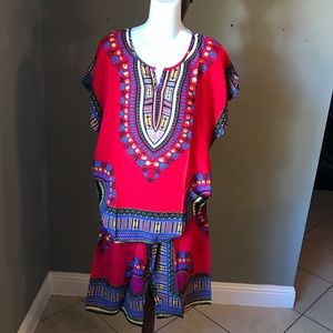 New Boho African Aztec Tribal Set Congo Dashiki
